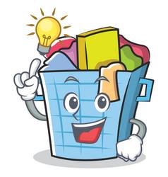 Have an idea laundry basket character cartoon vector