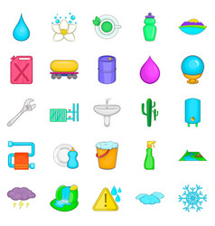 Heat conductor icons set cartoon style vector