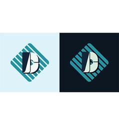 letter D emblem vector image vector image