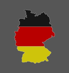 Map of Germany with flag vector image