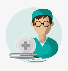 medical and health care design vector image