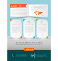 Modern abstract brochure report document vector
