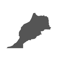 Morocco map black icon on white background vector