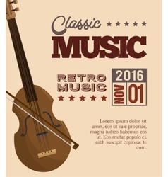 music festival instrument poster vector image vector image