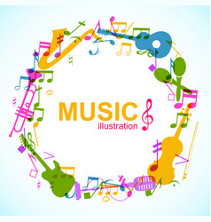 Music round composition vector