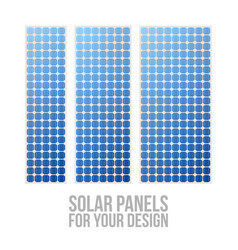 Photovoltaic electric solar panel patterns set vector