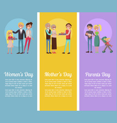 Poster devoted to woman s mother s parents days vector