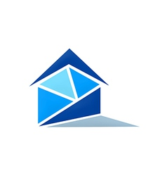 realty home message logo vector image vector image