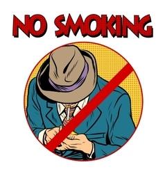 Sign smoking ban vector