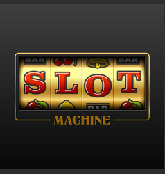 slot machine casino advertising design element vector image