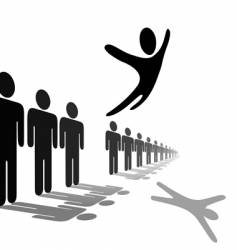 symbol person leaps out vector image vector image