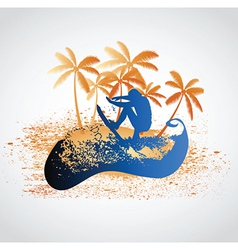 Tropical design vector image vector image