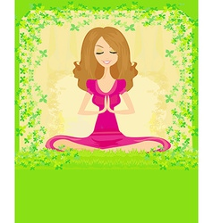 woman in a traditional yoga pose vector image