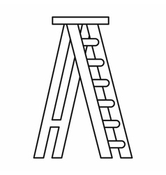 Stepladder icon in outline style vector image