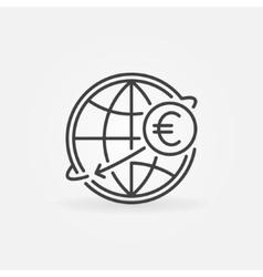 International money transfer icon vector