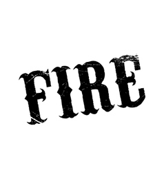 Fire rubber stamp vector