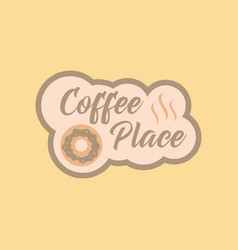 flat icon on background coffee drink place logo vector image
