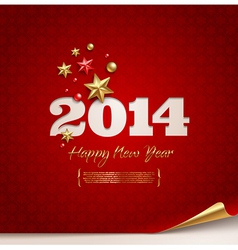 holidays design - 2014 new year greetings vector image