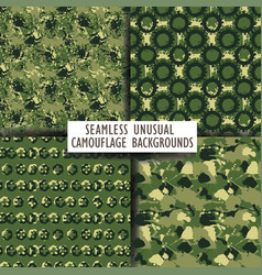 Seamless backgrounds of a camouflage vector