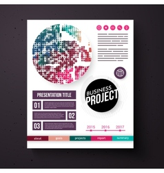 Business project template in retro colors vector