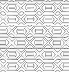 Gray reflected archimedean spirals on continues vector