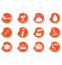 Set of services and entertainment icons vector