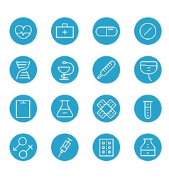 Different line style icons set vector