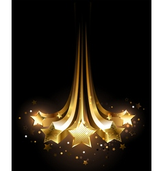 Five gold comets vector