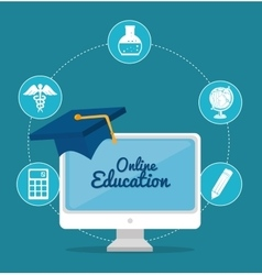 Online education design vector