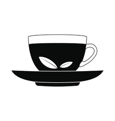A cup of tea icon simple style vector
