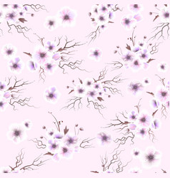 Anemones seamless pattern a bouquet of delicate vector