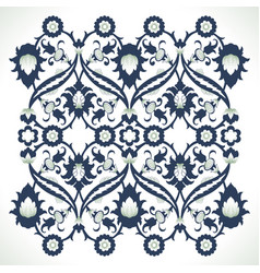 Arabesque vintage ornate border elegant floral vector