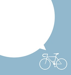 Bicycle with speech bubble vector
