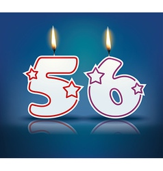 Birthday candle number 56 vector image