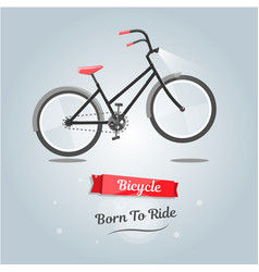 born to ride a bike trendy style for web site vector image vector image