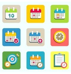 calendar and event icons vector image