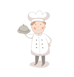 Cartoon of cook vector image