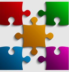 Color puzzles piece jigsaw - 9 pieces vector