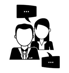Conversation icons design vector image