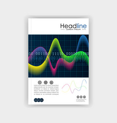 cover design template with glowing diagram vector image