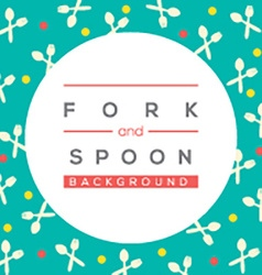 Fork And Spoon Background vector image vector image