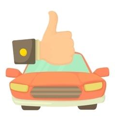 Good car icon cartoon style vector