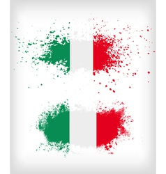 Grunge italian ink splattered flag vector