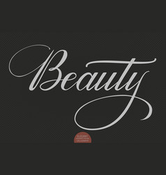 hand drawn lettering beauty elegant vector image