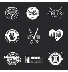 Hand made labels badges and design elements in vector image