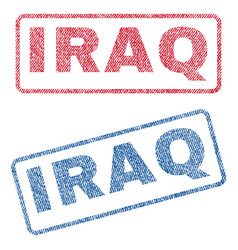Iraq textile stamps vector