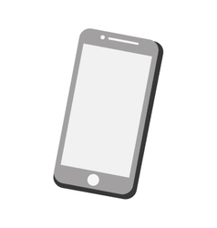 Mobile phone screen technology gray color vector