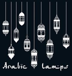 ramadan kareem arabic lantern design template vector image vector image
