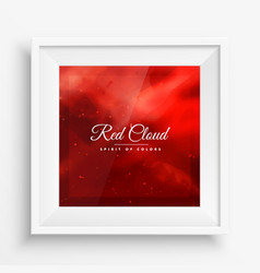 Red cloud colors frame vector