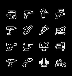 Set line icons of electric tools vector